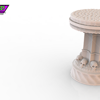 Small HG3D Dungeon Item Pedestal - 28mm 3D Printing 119745
