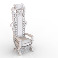 Small HG3D Worship  Comfy Chair - 28mm 3D Printing 119755