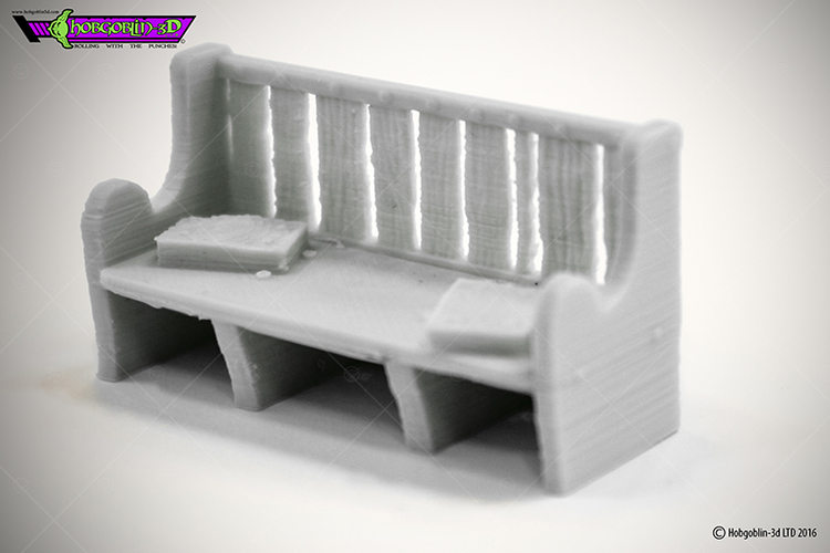 HG3D Worship Pew- 28mm 3D Print 119767