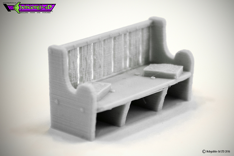 HG3D Worship Pew- 28mm 3D Print 119769