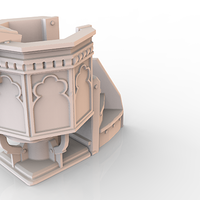 Small HG3D Worship Pulpit- 28mm 3D Printing 119773