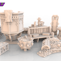 Small HG3D Dungeon&Worship Mega Pack 3D Printing 119792