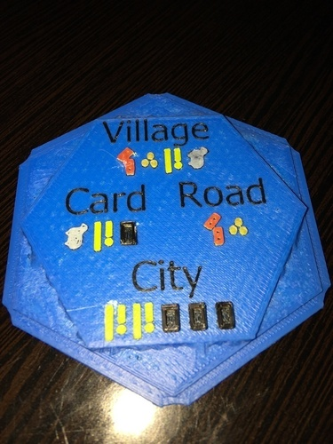 Settlers of Catan Costs Water Tile - Multicolor 3D Print 119847