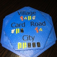Small Settlers of Catan Costs Water Tile - Multicolor 3D Printing 119847