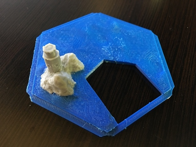 Catan Magnetic Bases - 5mm Spherical Neodymium with tile platfor 3D Print 119852