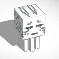 Small Minecraft Ghast 3D Printing 119856