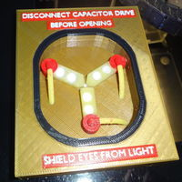 "Small ""Back to the future"" gadget - printable 6 color Flux Capacitor 3D Printing 120041"
