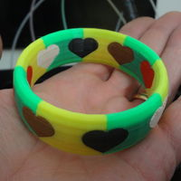 Small 6 colors bracelet 3D Printing 120044