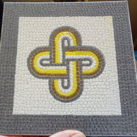 Small Roman Mosaic - 4 colours King Solomon knot 3D Printing 120075