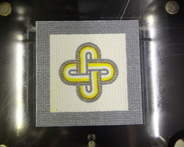 Roman Mosaic - 4 colours King Solomon knot 3D Print 120077