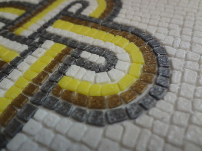 Roman Mosaic - 4 colours King Solomon knot 3D Print 120078