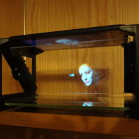 "Small TreolONE - another single face holographic display (7"" Tablet) 3D Printing 120080"