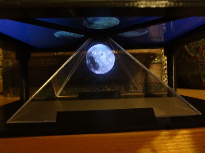 TREOLO 7 - Another holographic pyramid (Glue less) 3D Print 120084