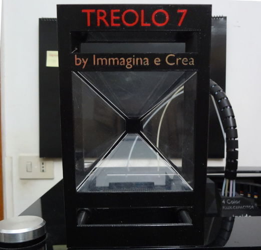 TREOLO 7 - Another holographic pyramid (Glue less) 3D Print 120087