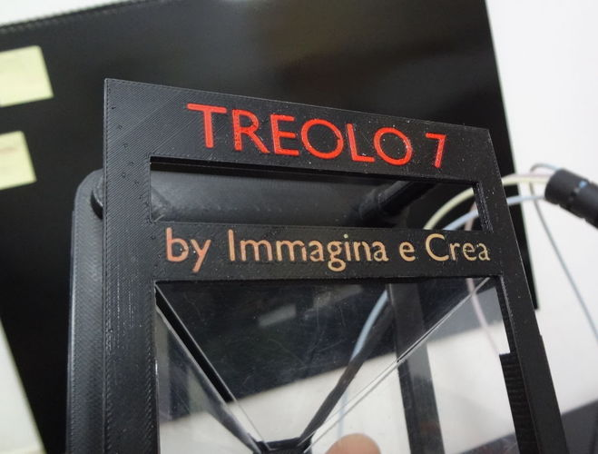 TREOLO 7 - Another holographic pyramid (Glue less) 3D Print 120088