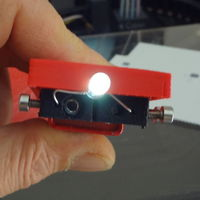 Small 9V Torch with a single led - Conductive Abs experiment 3D Printing 120107