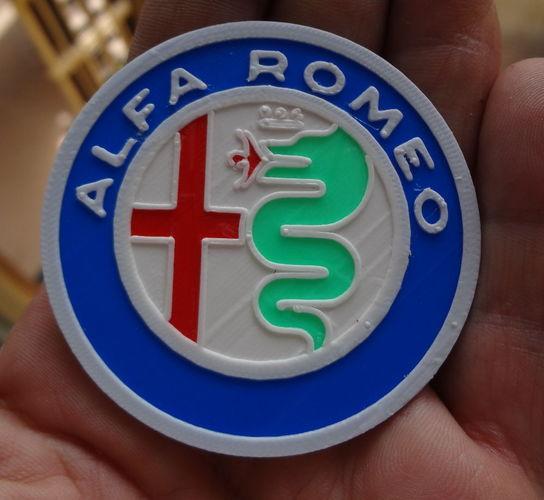 3d printed 4 colors alfa romeo logoimmaginaecrea | pinshape
