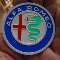 Small 4 colors Alfa Romeo Logo 3D Printing 120113