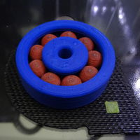 Small 2 color Abs ball bearing with ball support 3D Printing 120153