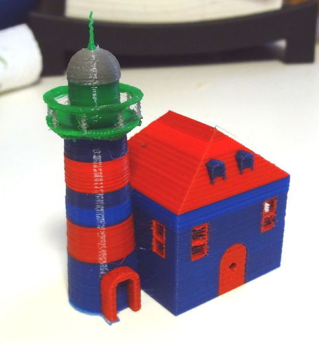 Multi strusion light house 3D Print 120172