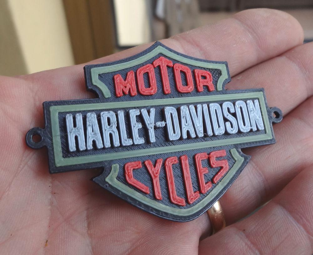3d printed 4 colors harley davidson logo by immaginaecrea pinshape