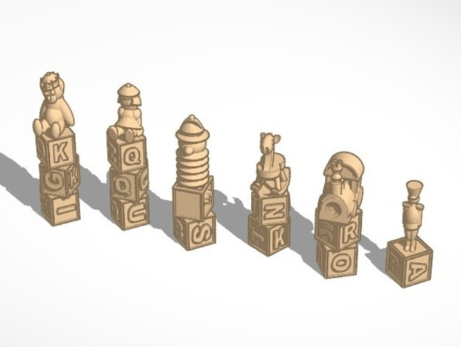Toy Chesst 3D Print 1202
