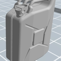 Small Jerrycan 1/16th scale 3D Printing 120250