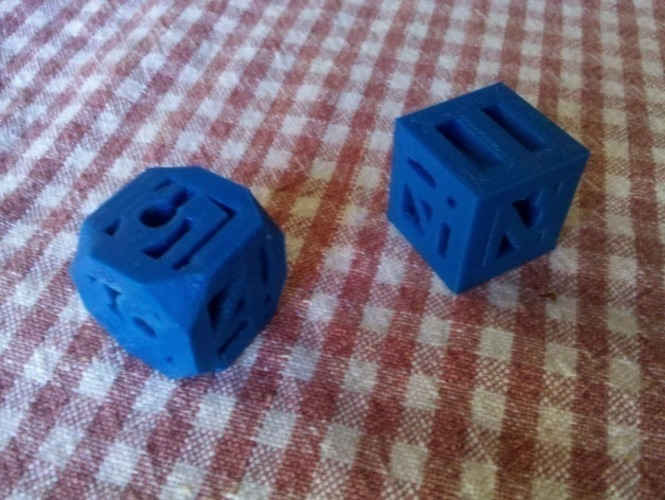 Hollow 3D Printed Die 3D Print 120262