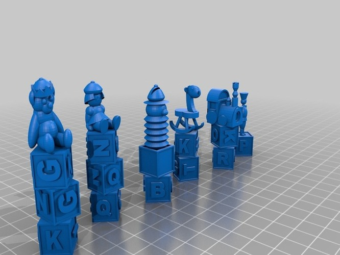 Toy Chesst 3D Print 1203