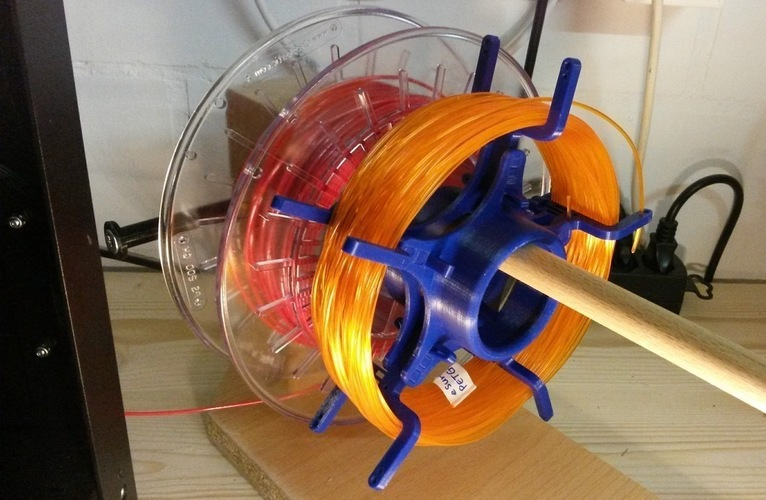 Unlockable loose Filament Spool 3D Print 120302