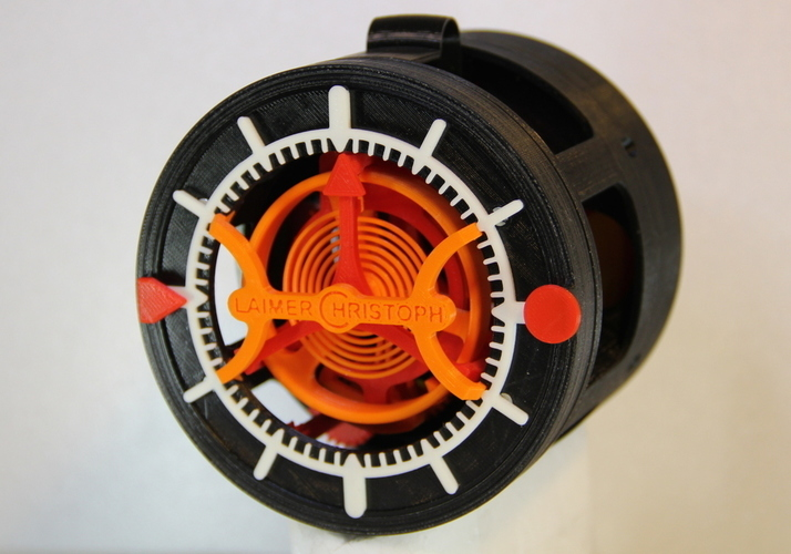 3D-printed Watch with Tourbillon 3D Printing 120316