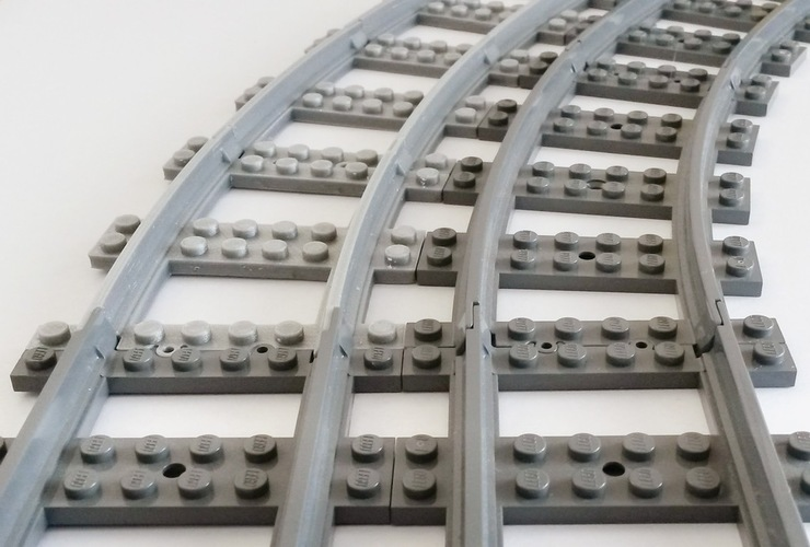 Lego Train Track curved large Radius 3D Print 120321