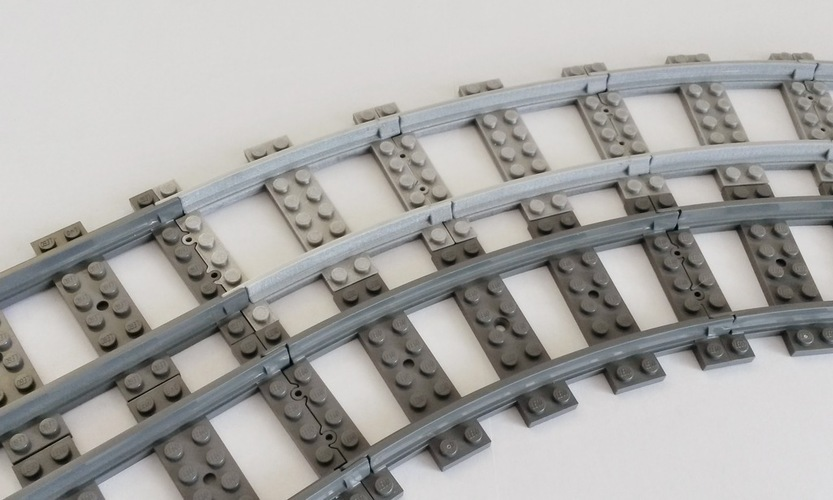 Lego Train Track curved large Radius 3D Print 120322