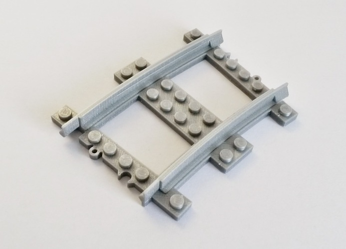 Lego Train Track curved large Radius 3D Print 120323