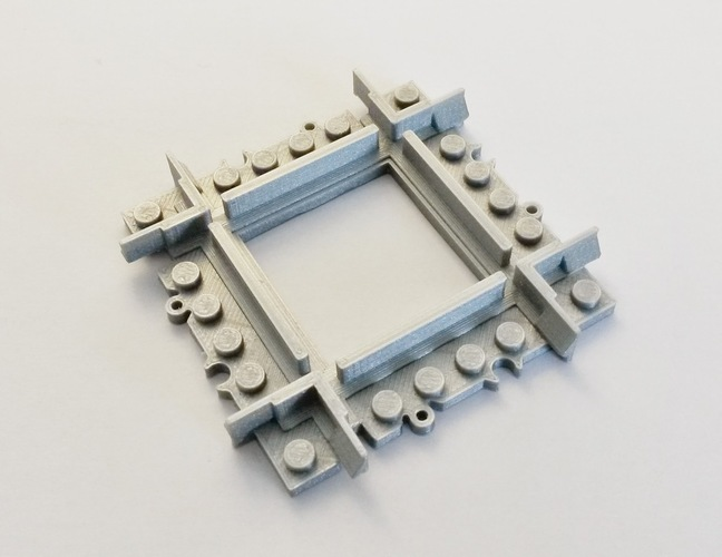 Lego Train Track Mini Crossing 3D Print 120324