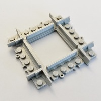 Small Lego Train Track Mini Crossing 3D Printing 120324