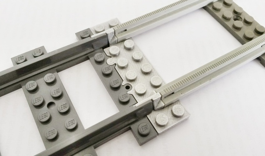 Lego Train Track Adapter 3D Print 120326