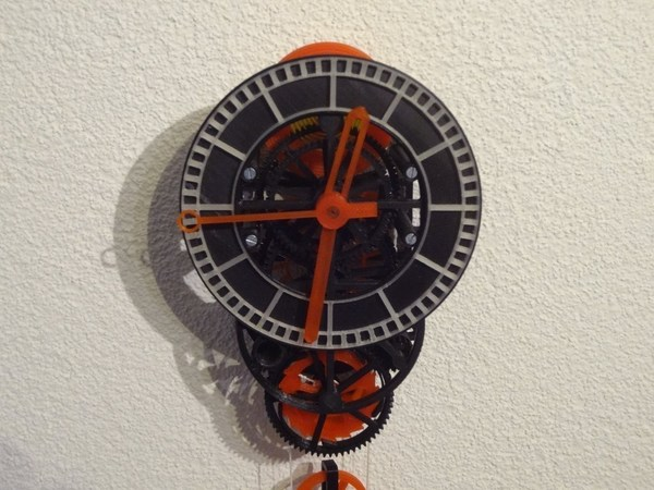 Medium 3D printed mechanical Clock with Anchor Escapement 3D Printing 120334