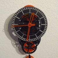 Small 3D printed mechanical Clock with Anchor Escapement 3D Printing 120334