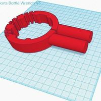 Small Shake-n-Take Sports Bottle Wrench v3 3D Printing 120345