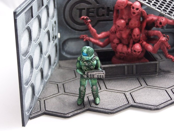 28mm Scifi Corporate Mercenary 3D Print 1204