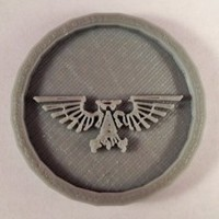 Small 40mm X 4mm Token - Marker of Impieral Army 40K Bits 3D Printing 120432