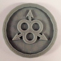 Small 40mm X 4mm Token - Marker of Nurgle Chaos 40K Bits 3D Printing 120436