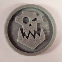 Small 40mm X 4mm Token - Marker of Orc 40K Bits 3D Printing 120440