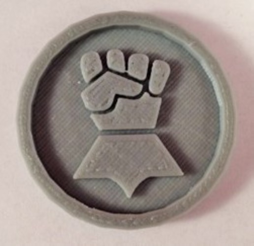 40mm X 4mm Token - Marker of Impieral Fists 40K Bits 3D Print 120444