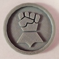 Small 40mm X 4mm Token - Marker of Impieral Fists 40K Bits 3D Printing 120444