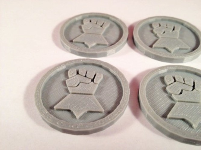 40mm X 4mm Token - Marker of Impieral Fists 40K Bits 3D Print 120446