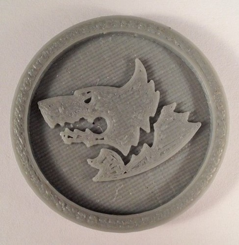 40mm X 4mm Token - Marker of Space Wolves 40K Bits 3D Print 120452