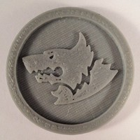 Small 40mm X 4mm Token - Marker of Space Wolves 40K Bits 3D Printing 120452
