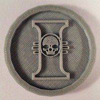 Small 40mm X 4mm Token - Marker of The Inquisition 40K Bits 3D Printing 120455